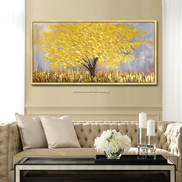 Canvas Painting Modern Hand Painted palette knife 3D texture Flower ...