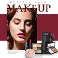 Makeup Set Matte Shimmer Lipstick Loose Powder Shimmer Automatic Eyeshadow Pencil 6 Color Concealer Makeup Kits