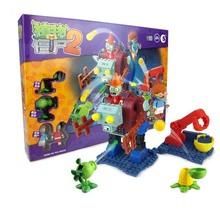 цена на Plants Vs Zombies Struck Game Building Blocks Set Toys Compatible Legoingly Gift For Children Action