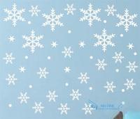 スノーフレーク壁ステッカー デ カール用冷凍テーマ部屋の多く の色が選べる ホーム装飾stikers ため壁装