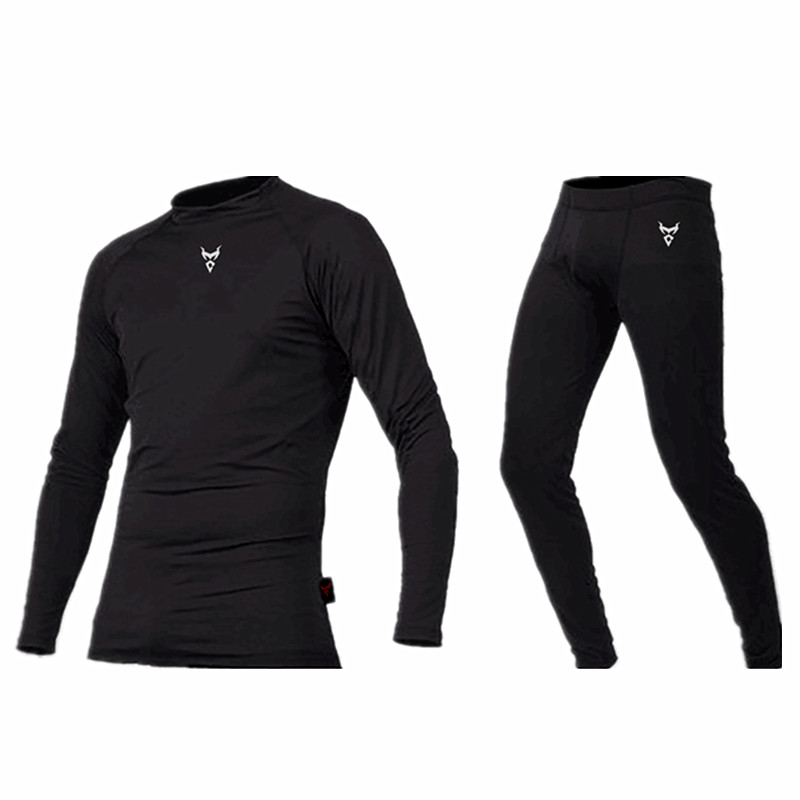 Motorcycle underwear quick-drying Set Mens Motorcycle Sweat clothes Base Layers Tight Long Johns Tops & Pants Set