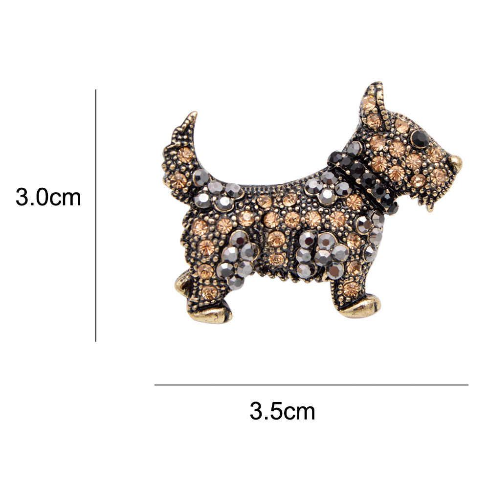 Cinkile Fashion Enamel Anjing Lucu Bros untuk Wanita Memakai Topi Anjing Bros Pin Keren Kartun Hewan Bros Pesta Pernikahan Hadiah