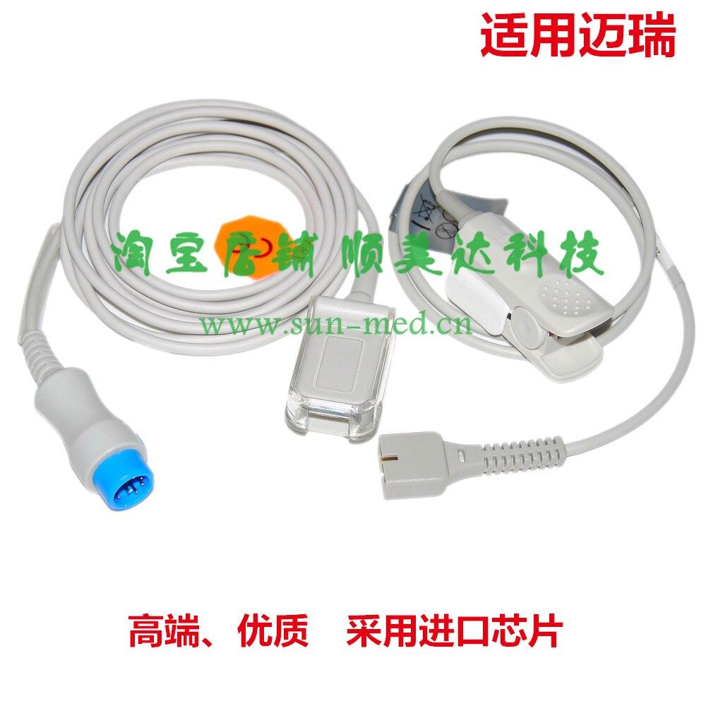 Compatible Spo2 sensor for Mindray Beneview T5 T6 T8 iPM iMec 8 10 12 DPM 6