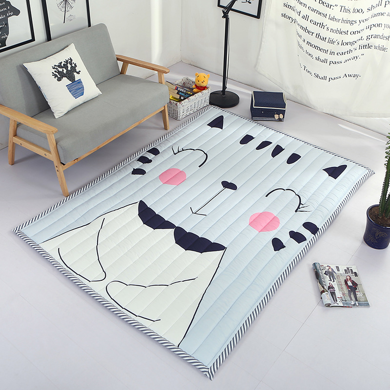 Infant Shining Baby Play Mat Thickening Children Carpet Living Room Tatami Non-slip Rug Machine Washable Mat fashion thicken soft coffee color carpet floor living room area rug mat bedroom home carpets doormat washable size 80 160 3 cm