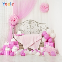 Yeele Baby Birthday Party Photocall Balloons Gifts Photography Backdrops Personalized Photographic Backgrounds For Photo Studio