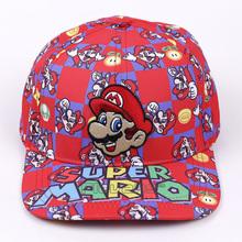 Super Mario Bros 2017 Fashion Baseball Cap Mario Embroidery Cartoon Boys Men Sun Hats Flat Snapback