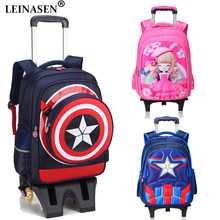 Kids Suitcase 3D Children's Luggage Cartoon Children Rolling Luggage Multi-functional student Backpack Girl Boys Suitcase Wheels(China)