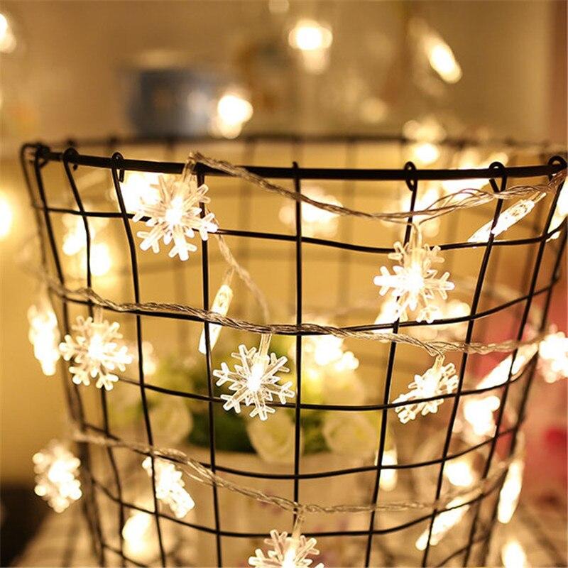 aliexpresscom buy christmas decorations 5m natal christmas led string lights decorative navidad garland snow lights christmas tree decorations from