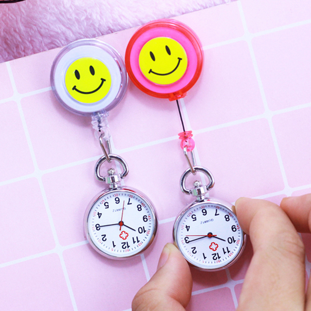 chaoyada Hot Sales Nurse Pocket watch Lovely Heart Smile Face With Medical Nurse