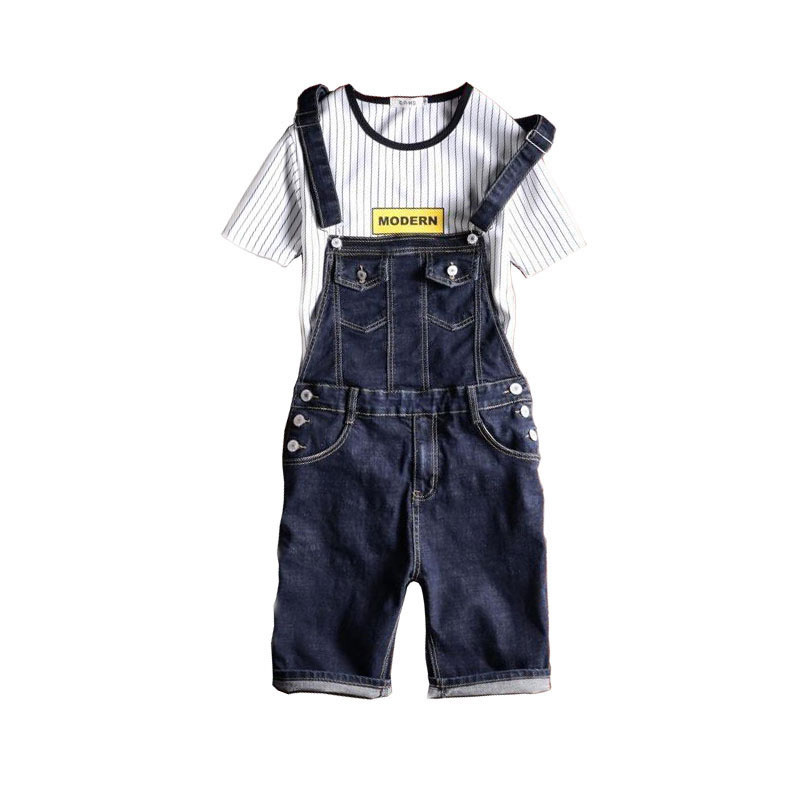 2019 New Male Denim Jumpsuit Short Blue Denim Overalls Men Shorts Suspender Jean Shorts Bermuda Masculina  Size S M L Xl 2xl-5xl