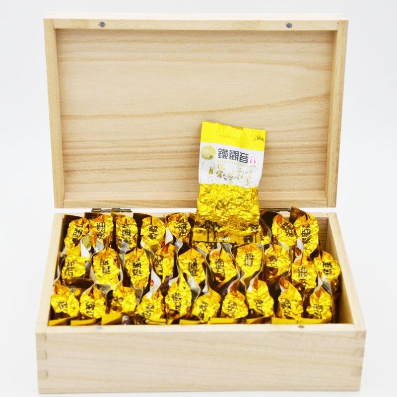 Chinese Oolong tea 9gX3Fujian Anxi Tieguanyin loose Tikuanyin tie guan yin green 1752 organic gift wooden