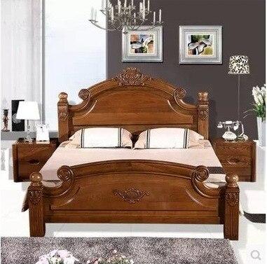 The 2015 Explosion Models Brand Bedroom Furniture Elm Wood Bed