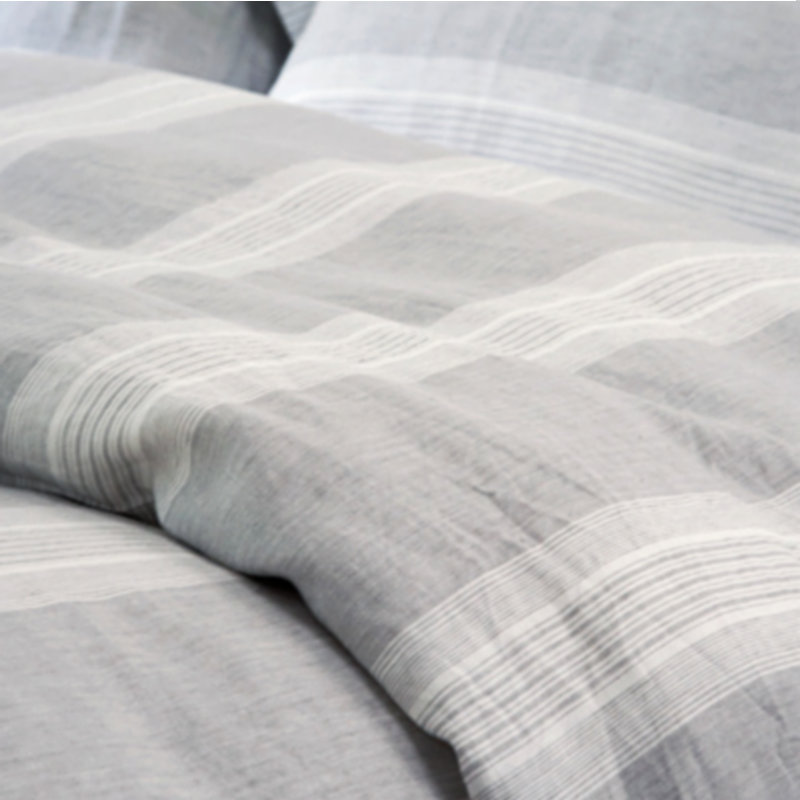 3 pcs Yarn Dyed Strip 100% Pure Linen Bedding Sets Waterwash Linen pillowcase duvet cover Linen sheets Free Shipping