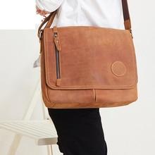 New Casual Portrait Leather Men Bag Fashion Large Capacity Mad Horse Skin  Retro Men Shoulder Messenger 7d476cce4cb98