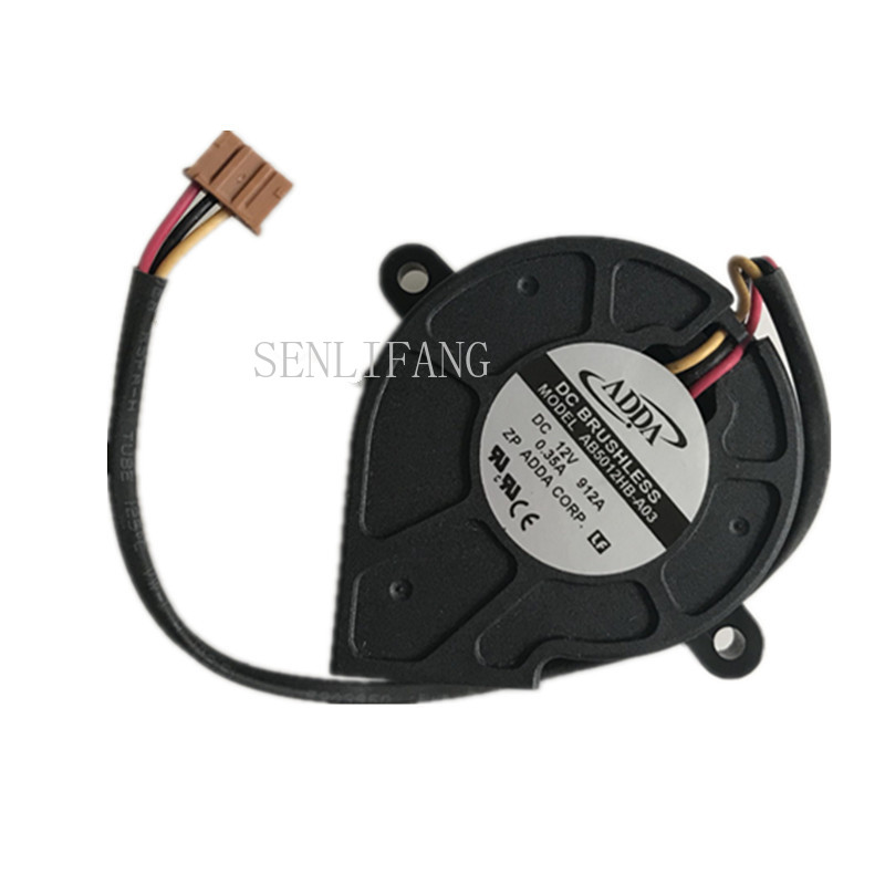 Free Shipping AB5012HB-A03 DC 12V 0.35A 50x50x25mm 3-Wire Server Blower Fan