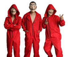 Salvador Dali Movie Costume Money Heist The House of Paper La Casa De Papel Adult Cosplay Halloween Party with Face Mask