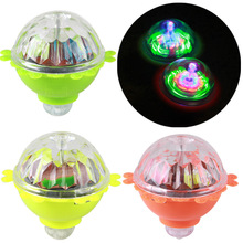 Rotating flash gyro glow in the dark toy friction creative classic nostalgic light-up led lamp Colorful Spinning kids lumino