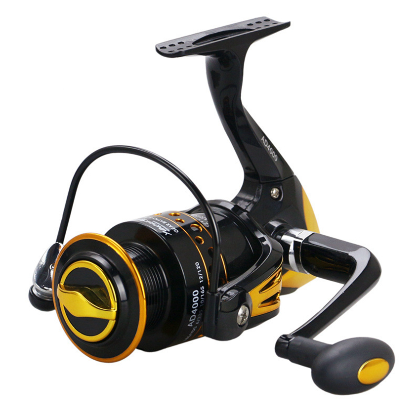 New <font><b>AD2000</b></font> - 9000 Series Metal Spool Spinning Reel Fish Salt Water Fishing Reel Pesca Wheel 12+1 Ball Bearing 5.5:1 image