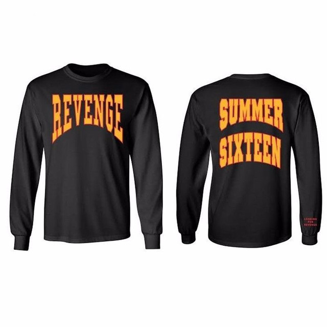 f1ab37d326a2 Summer Sixteen Tops Tee Men Tour Revenge Long Sleeve T-Shirt Revenge Shirts  Drake Tops