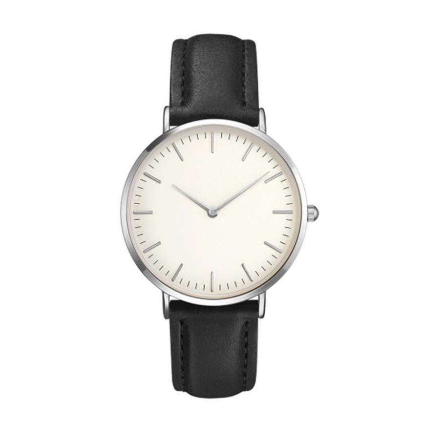 Leather Strap Gold Bracelet Quartz Watch For Women