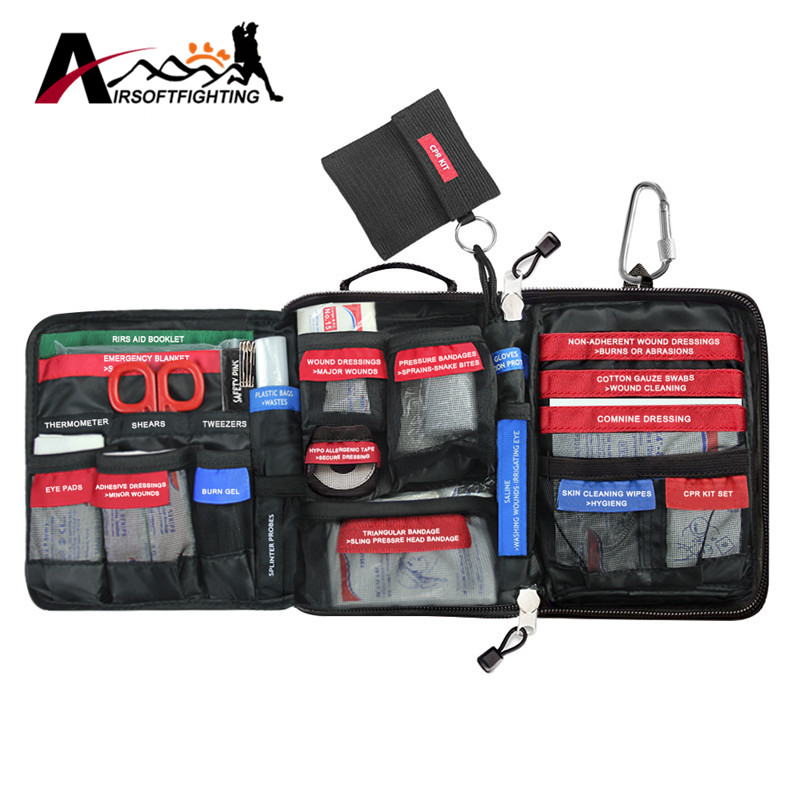 96pcs/pack Molle First Aid Kit 3 Layers Medical Bag Outdoor Wilderness Survival Travel Emergency Rescue Handy Bag Treatment Pack free shipping instant ice pack cold pack bag for emergency kits first aid kit cool pack fresh cooler food storage sports