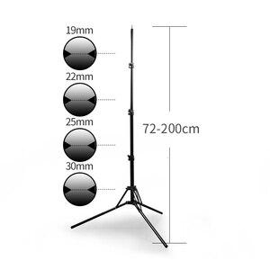 Image 5 - 2メートル6.5ftスタンド三脚折りたたみスタンドライトソフトボックス写真ビデオ照明フラッシュガンランプ用スタンド/傘フラッシュ