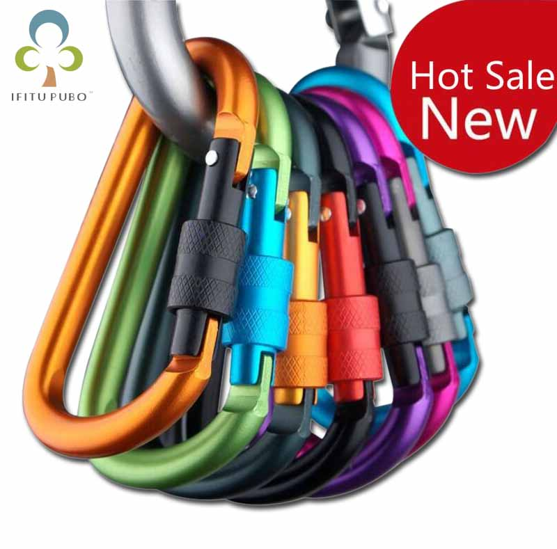 Carabine Outdoor Kit 6 pcs Camping Equipment Alloy Aluminum Survival Gear Camp Mountaineering Hook EDC Mosqueton Carabiner(China)
