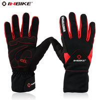 INBIKE Winter Cycling Gloves Full Finger Thermal Fleece Windproof MTB Motorcycle Skiing Bike Bicycle Gloves Windstopper