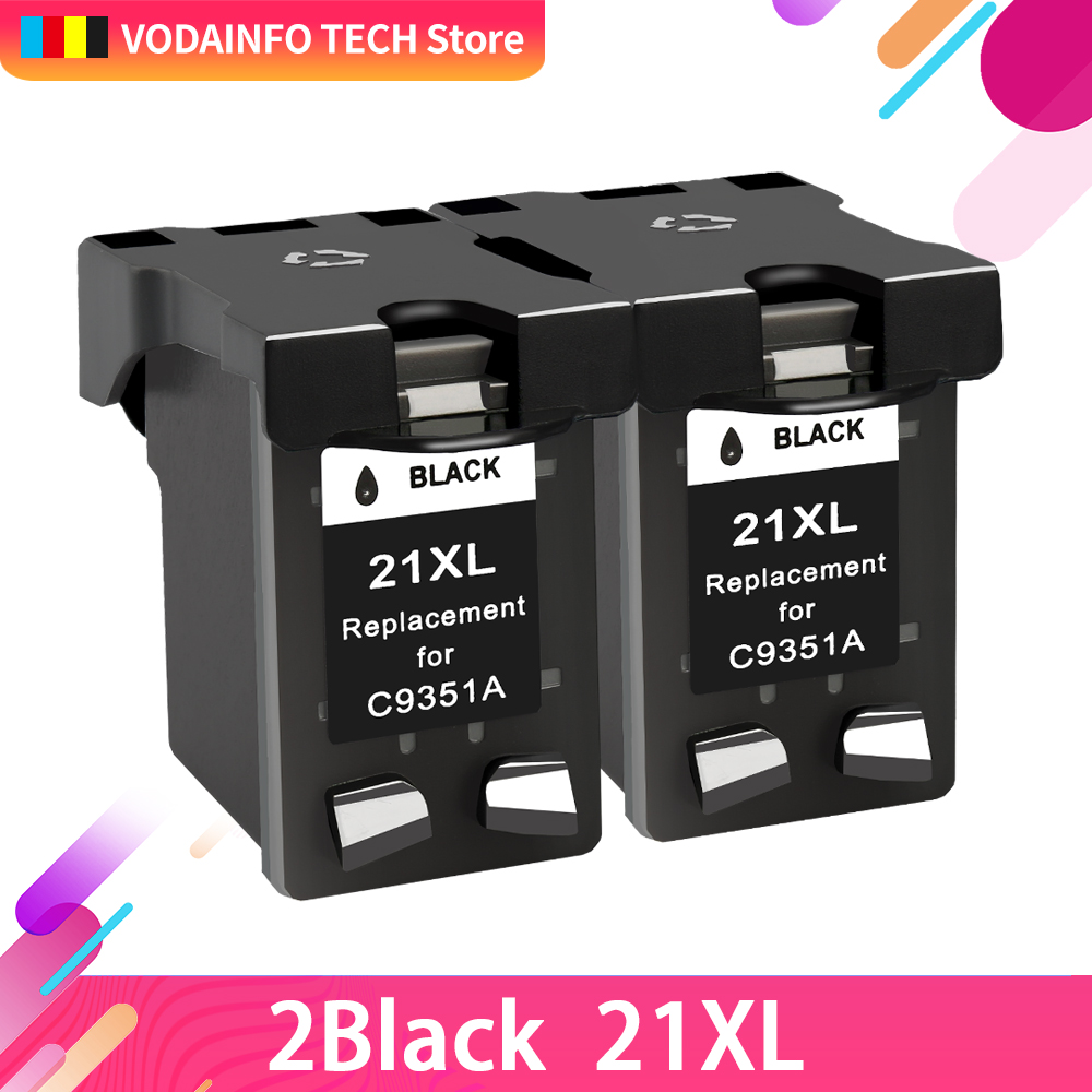QSYRAINBOW Refill <font><b>21</b></font> 22XL Ink <font><b>Cartridge</b></font> Replacement for <font><b>hp</b></font>/HP21 <font><b>hp</b></font>/HP22 for <font><b>HP</b></font> <font><b>21</b></font> <font><b>22</b></font> for Deskjet 3915 3920 F4100 F2100 F2280 image