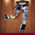 קרע ג 'ינס לגברים הרס ג' ינס גבר רזה במצוקה Slim Fit מעצב אופנוען היפ הופ היי-סטריט סטייל בלאק ג ' ין Z20