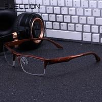 ELECCION Alumium Magnesium Eyeglasses Frame Men Half Rim Eye Glasses Frame For Man Sport Style Optical
