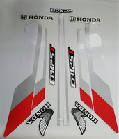Motorcycle 3d wing Sticker Decals Logo for CBT125T CBT125 CBT 125 honda Sticker