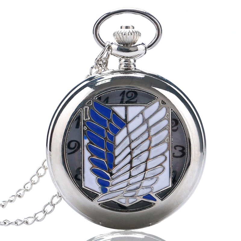 Attack on Titan Scouting Legion Survey Corps Cosplay Men Quartz Pocket Watches for Women Unique Pocket Watch Gifts Reloj Mujer