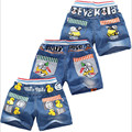 Nuevos pantalones cortos de los niños del verano muchachas de los bebés pantalones vaqueros niños pantalones de dibujos animados pantalones cortos al por menor 2-5 años de edad envío gratis