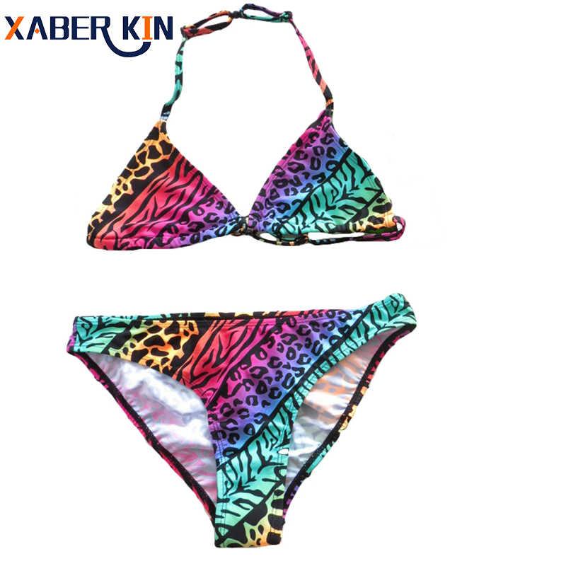 3fc1f36d3 New Bikini girls biquini infantil swimwear girl Children swimwear two  pieces swimming suit for girls kids