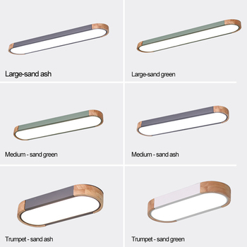 Nordic LED Ceiling Light Aisle Lights Office Strip Lighting Round Corner Creative Simple Corridor Balcony Wood