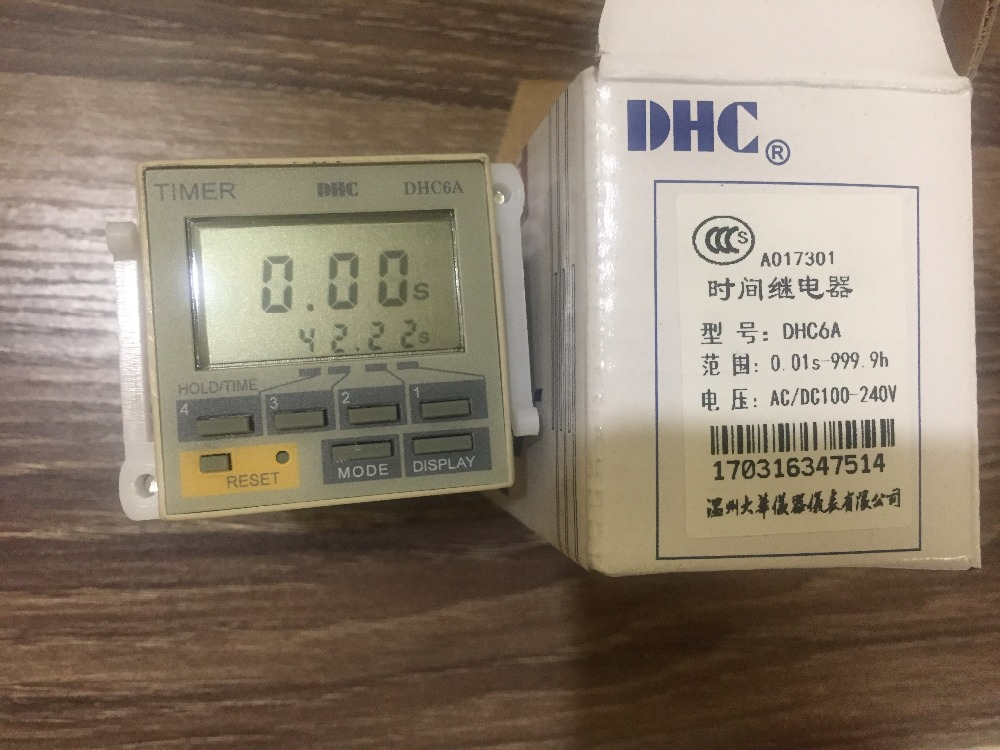Wenzhou Dahua time relay DHC6A multi-function time relay liquid crystal display time relay wenzhou dahua time relay dhc6a a3 power failure to maintain the call to continue with lcd backlight with backlight