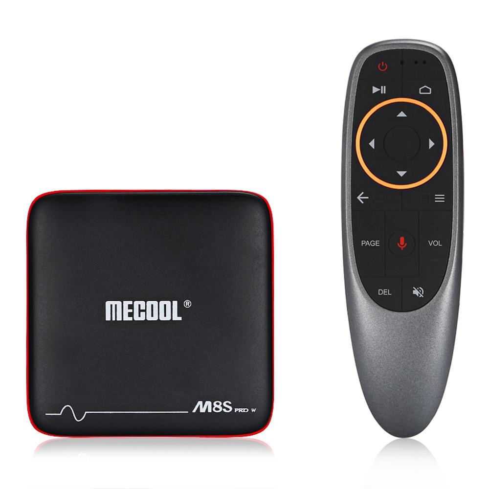 MECOOL M8S PRO W S905W 1 gb di RAM 8 gb di ROM Smart TV Box con Android TV OS di Voce di Sostegno controllo di Input