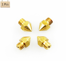 1Pcs/lot Anet 3D Printer Parts Nozzle Mix 0.2mm Extruder Brass Nozzle Print Head for MK8 Extruder 1.75mm ABS PLA Printer