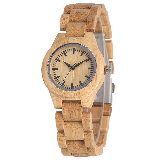 Relogio Feminino High Quality Lightweight Bamboo Quartz Watch Movement for Women Classic Unique Natural Handmade Wood Watches | Fotoflaco.net