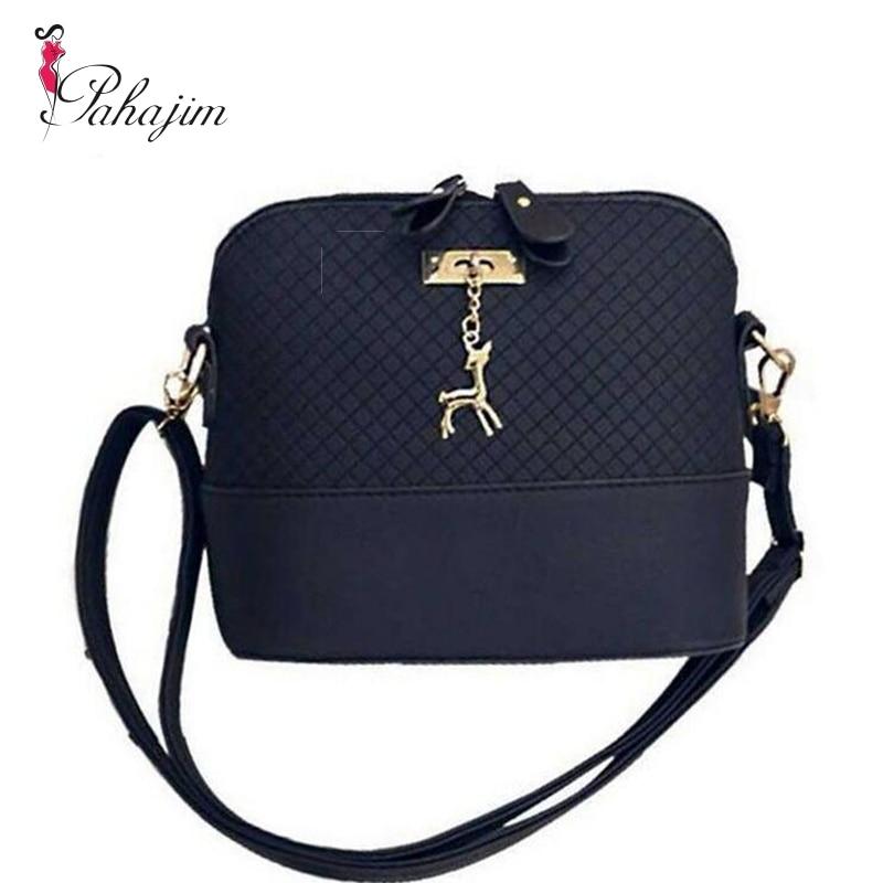 PAHAJIM 2018 Fashion Women Messenger Bags Mini Bag With Deer Toy Shell Shape Bag Women Shoulder Bags free shipping