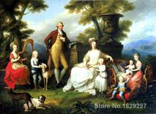 Animal paintings Angelica Kauffman's reproduction Ferdinand IV of Naples and his family hand painted High quality
