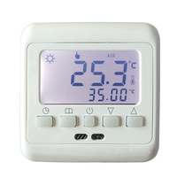 New Underfloor Heating Thermostat With White Backlight LCD Keys Weekly Programmable Room Temperature Controller