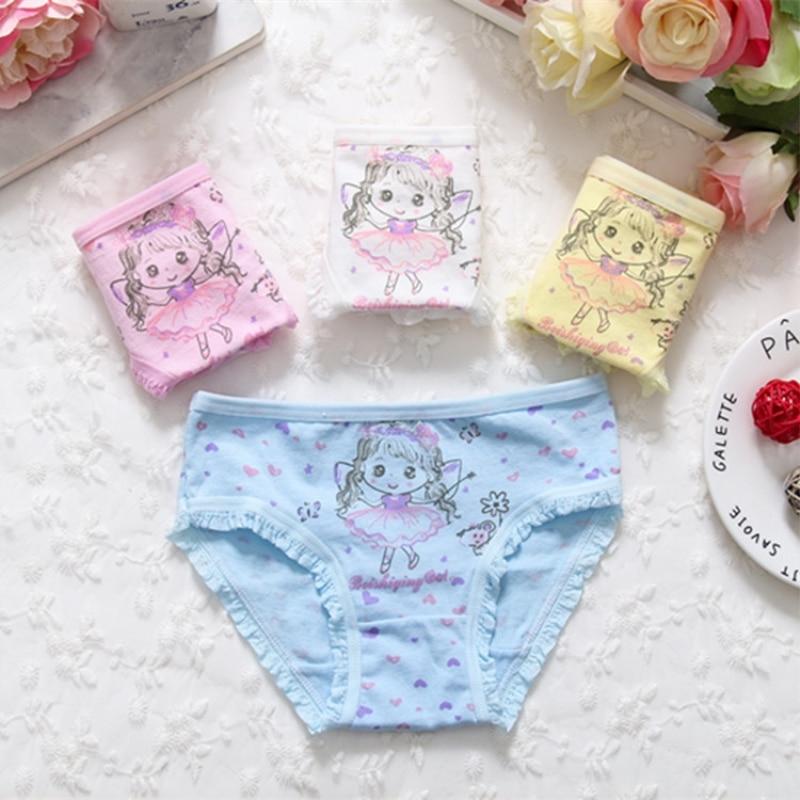 Girl Panties Cotton Children Breathable Underwears Briefs Panties For Girls Kids Shorts Pants 1 Pcs