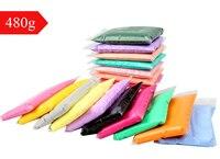 24 pcs/ensemble 480g argile Plastique Coloré Silly Putty Pâte À Modeler Super Léger Argile Polymère Souple Éducatifs Play Pâte Jeu Jouets