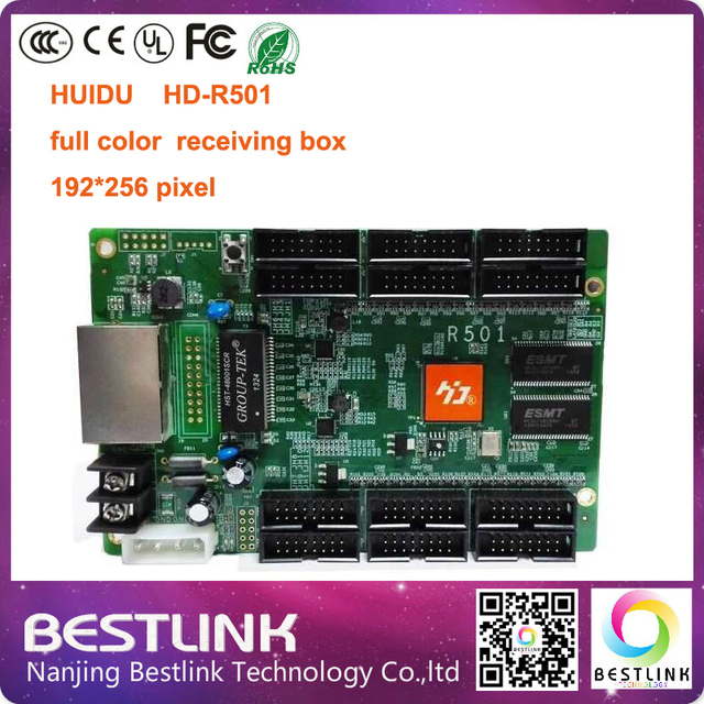 led control card for led display screen huidu hd-r501 led rgb video controller card led full color module led advertising board