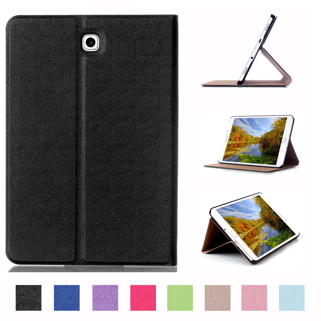 new style d2598 35a24 US $8.79 30% OFF|For Samsung Galaxy Tab S2 8.0 Case Book Flip Folio PU  Leather Stand Cover for Samsung Tab S2 SM T715 710 Sleep Wake Up  Function-in ...