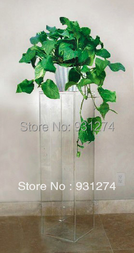 Clear Acrylic Lucite Pedestal Table Plexiglass Living Room Sculpture Perspex  Flower Vase Stand Furniture free shipping shelf clear acrylic lucite bedside table plexiglass nightstand