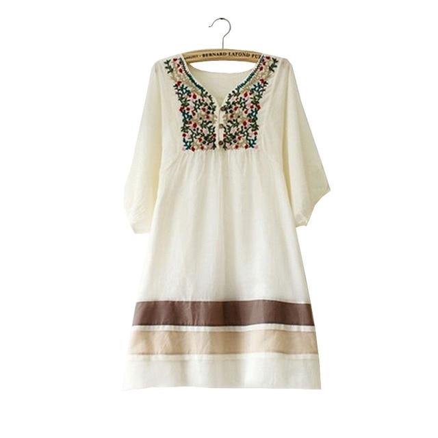020aad48d Vestidos de algodón bordado Ropa de maternidad para mujeres embarazadas  Ropa de embarazo Tops Gestante Ropa