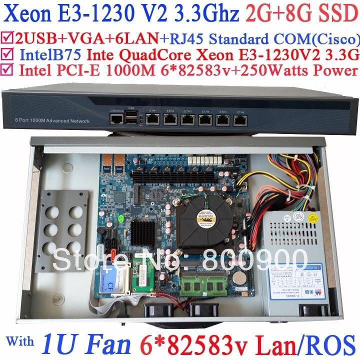 game consoles 1U network server with 6 lan ports 82583v Inte Quad Core Xeon E3-1230 V2 3.3Ghz no graphic 2G RAM 8G SSD RouterOS 1u firewall pfsense vpn intel quad core xeon l5420 with 6 ports 6 1000m 82583v gigabit nic 2g ram 8gb ssd